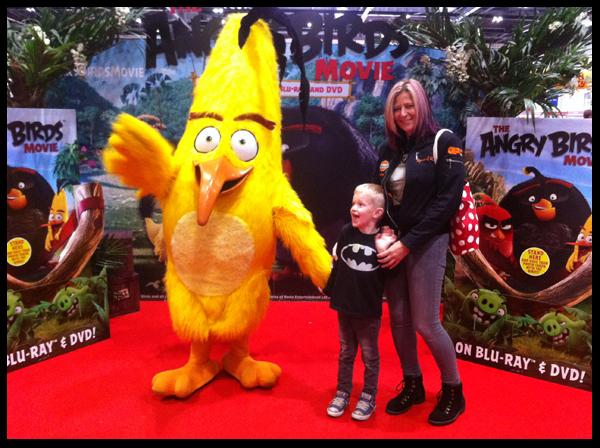 Yellow Angry Bird at Kidtropolis