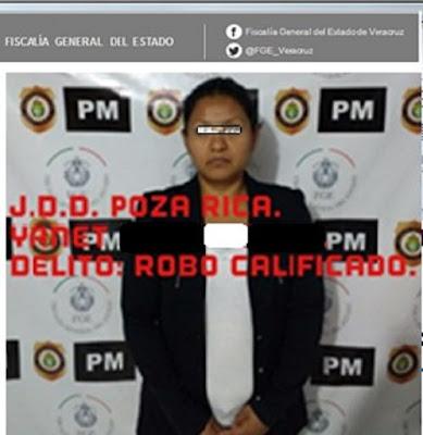 Cumple Policía Ministerial orden de aprehensión por robo calificado,  en agravio de cadena comercial, en Poza Rica