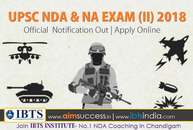 UPSC NDA & NA Exam (II) 2018 Notification Out  Apply Online
