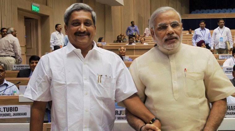 Manohar Parrikar With Prime Minster Narendra Modi