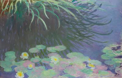 Claude Monet - Nympheas avec reflets de hautes herbes