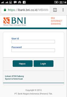 Cara blokir atm bni lewat internet banking bni