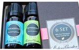 Image: Top 6 100% Pure Therapeutic Grade Basic Sampler Essential Oil Gift Set- 6/10 ml (Eucalyptus, Lavender, Lemongrass, Orange, Peppermint, Tea Tree) All Edens Garden oils are 100% Certified Pure Therapeutic Grade Essential Oil- no fillers, additives, bases or carriers added.