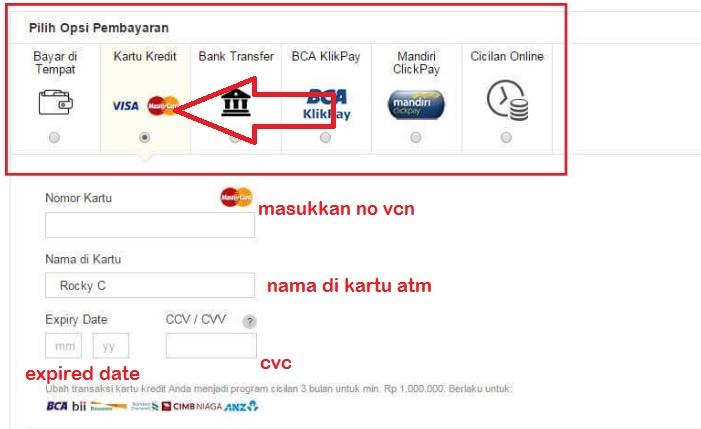Pilihan pembayaran toko online