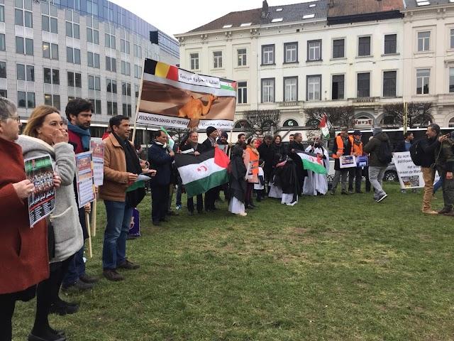 Manifestation à Bruxelles contre le pillage des ressources du Sahara Occidental