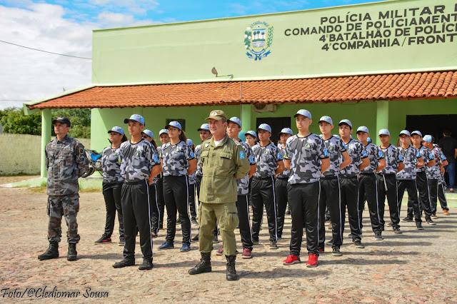 4ª CIA DE POLÍCIA DE FRONTEIRAS-PI (PELOTÃO MIRIM) TRABALHA JOVENS PARA O FUTURO