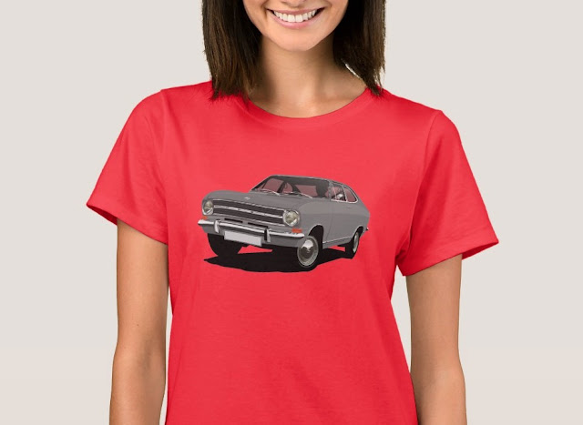 60's Opel Kadett B Coupé t-shirts for her