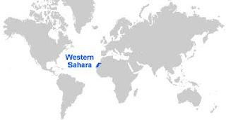 Gambar Peta letak Sahara Barat
