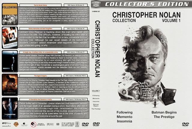Christopher Nolan Collection - Volume 1 DVD Cover