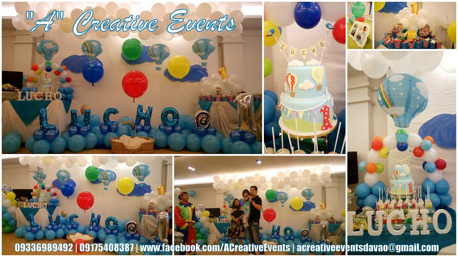 A Creative Events Formerly Athena Miel S Balloons Bubbles And Party Needs Lucho S Hot Air Balloon Themed Party