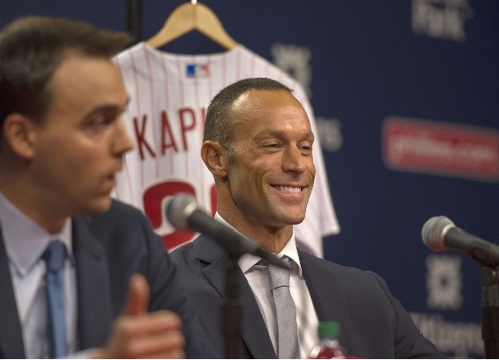 Phillies GM Matt Klentak and new manager Gabe Kapler