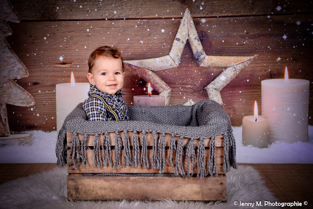photo enfant portrait de noel