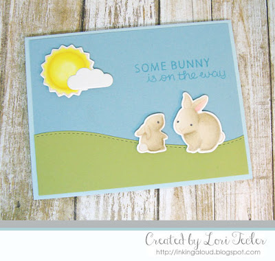 Some Bunny Is on the Way card-designed by Lori Tecler/Inking Aloud-stamps and dies from Lawn Fawn