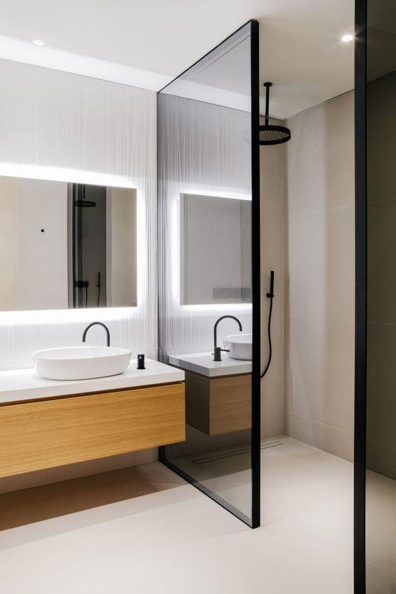 Banheiro Pequeno e Moderno  Esse da foto acima respira essas 2 coisas hahaha 09bc31e26f1