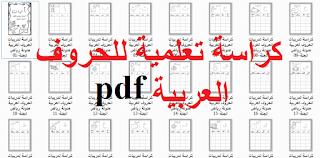 دفتر تدريب على كتابة الحروف العربية Pdf