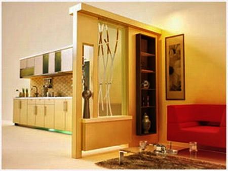 partisi ruang tamu minimalis modern   rumah miimalis terbaru
