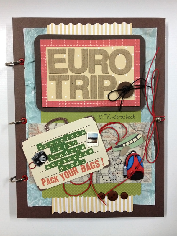 álbum scrapbook viagem eurotrip