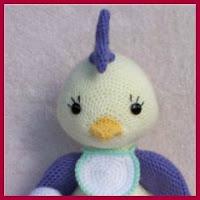 Bebé gallina amigurumi