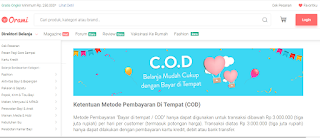 Situs Toko Online orami yang Bisa Bayar Ditempat atau COD di Indonesia