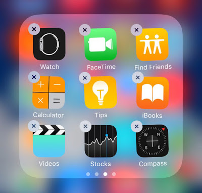 Apple has added a delete features in iOS 10 for several stock iOS apps. That is you can now delete your stock iOS apps from the homescreen in wiggle mode and can install anytime time you want to have that