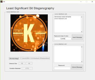 running program membuka cover-image dan mengetik pesan