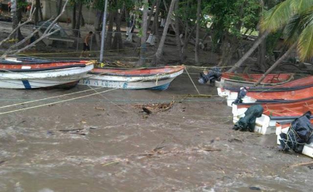 Choroni nuevamente afectada por las lluvias