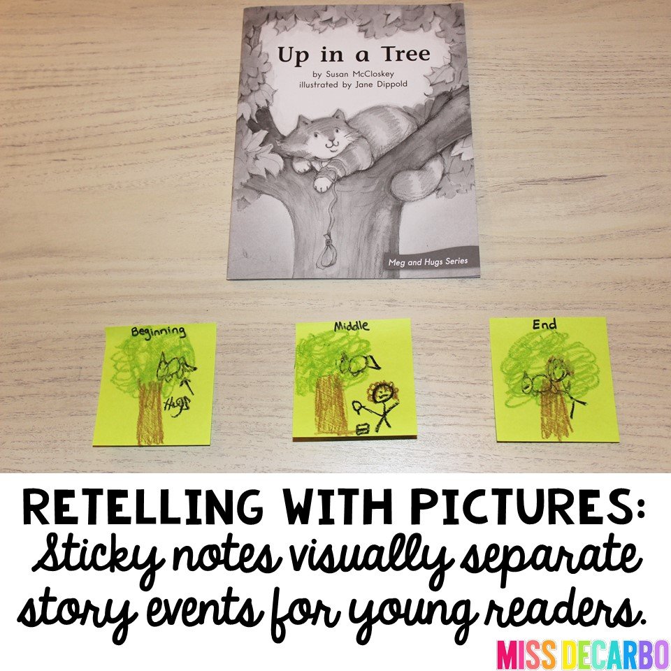 3 Ideas To Increase Retelling Skills In Young Readers - Miss DeCarbo [ 960 x 960 Pixel ]