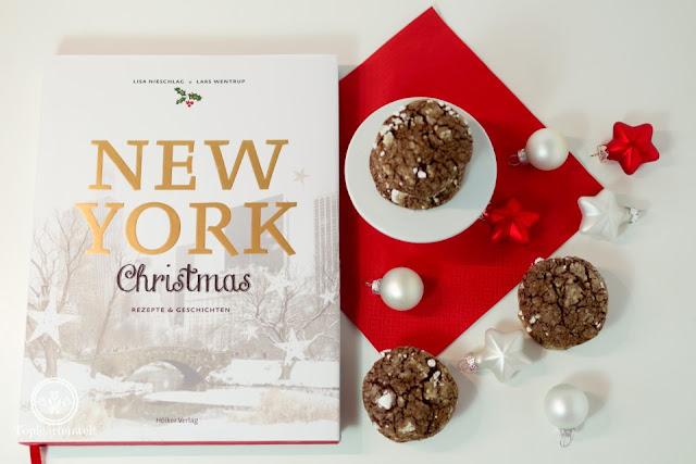 Buchvorstellung New York Christmas mit dem Rezept für Snwocaps - feine Schokoladenkekse - Foodblog Topfgartenwelt