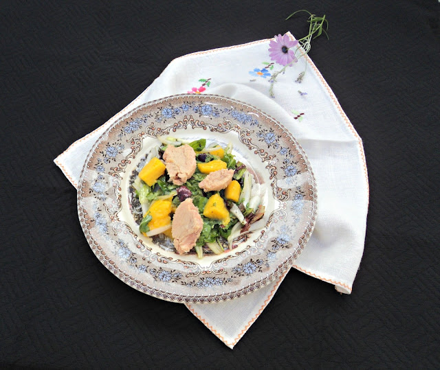 ensalada-atún-mango-vinagreta-chardonnay-presentacion
