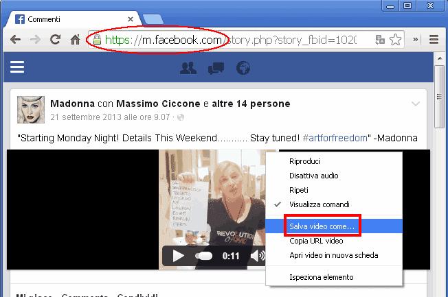 Come si fa a scaricare i video da facebook