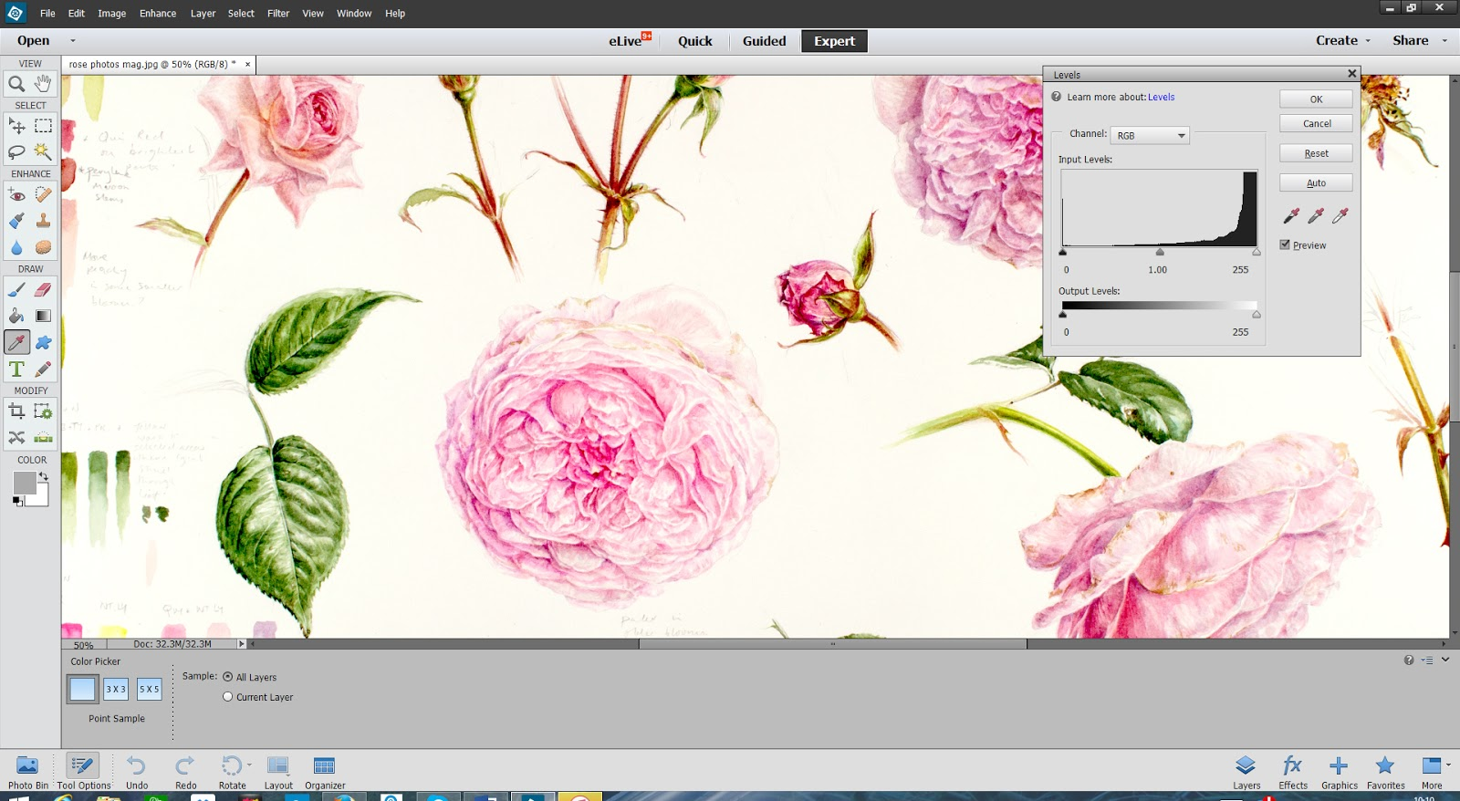 editing painting images in photoshop