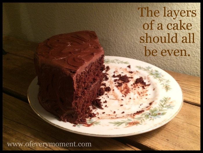 A double layer cake
