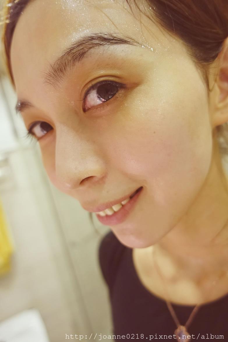 Beauty Wish雷射術後修護面膜使用後鎮定舒緩退紅的樣子