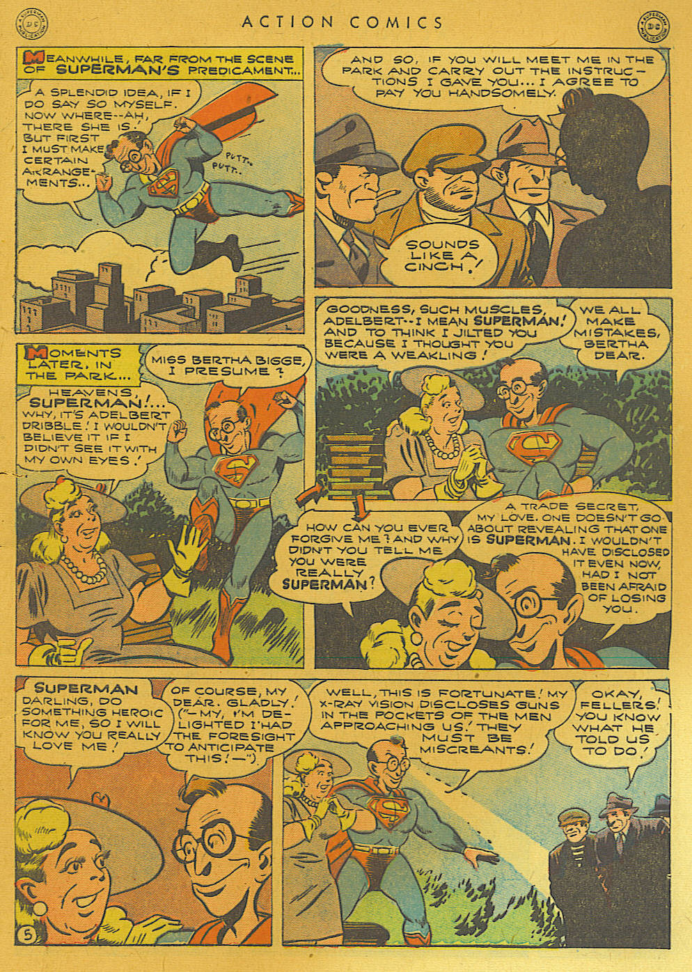 Read online Action Comics (1938) comic -  Issue #74 - 7
