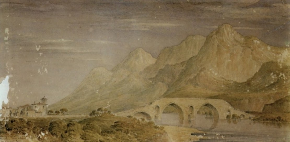 Bridge of Alamana near the Spercheius near Thermopylae, site of ancient battle – J. Skene.
