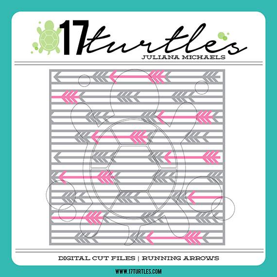 17turtles Digital Cut File Running Arrows