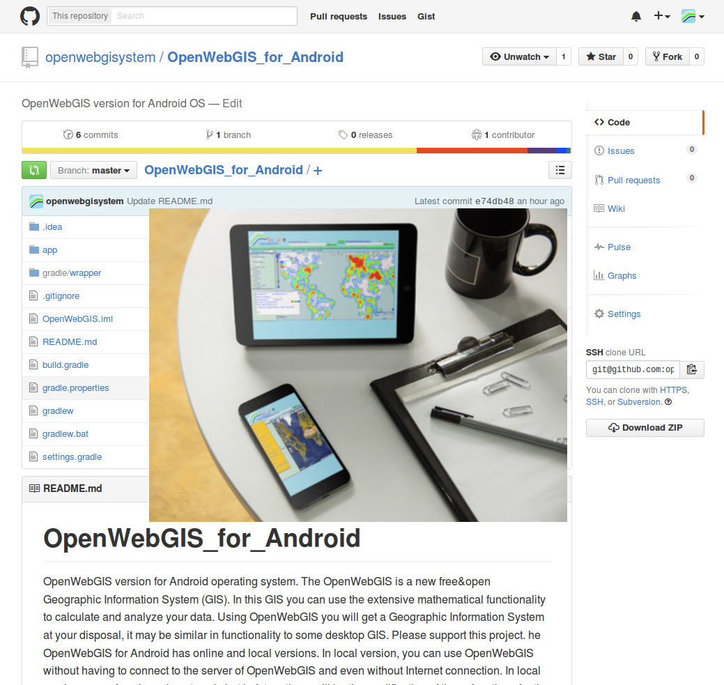 OpenWebGIS is free online GIS: Source code of OpenWeGIS for Android
