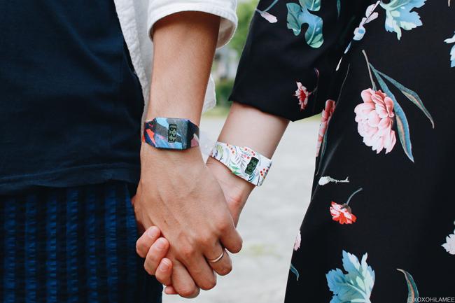 ファッションブロガー日本人、今日のコーディネート、ペーパーウォッチ、時計、お揃い