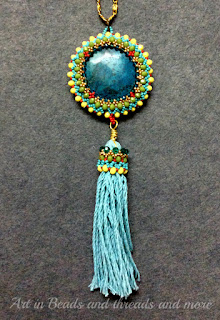 beadweaving tassel, statement tassel necklace
