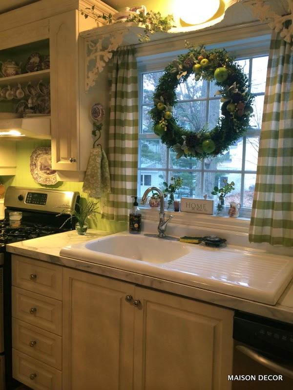 Facelift For Kitchen Cabinets Small Lighting Maison Decor: A Update With Apple Green Paint