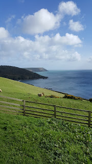Stunning views out to sea on the south coast of Cornwall
