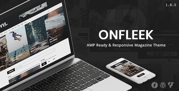 Onfleek AMP Ready And Responsive Magazine Wordpress Themes
