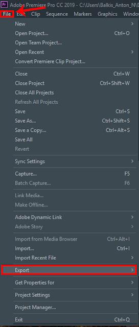 Cara Mengganti Nama/Lokasi Penyimpanan (Export) Adobe Premiere