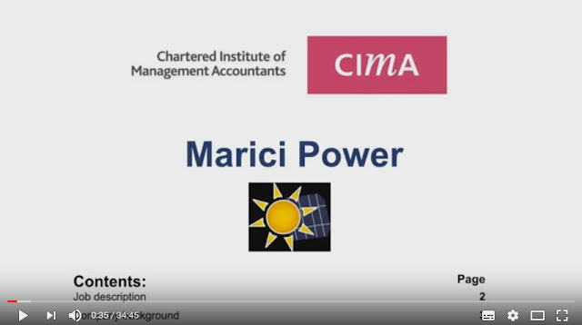 Operational Case Study November 2016 - CIMA (OCS) - Marici Power  - Pre-seen video analysis