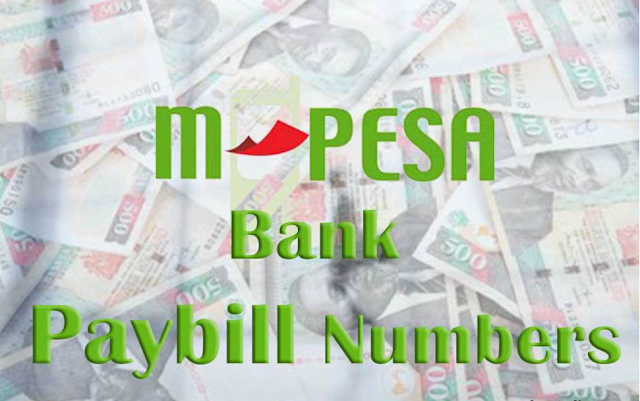 List of Mpesa Paybill Numbers For All Banks in Kenya