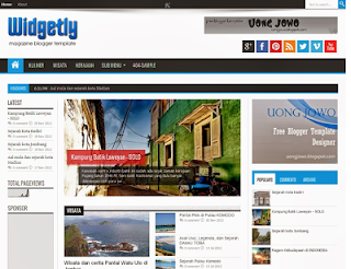 Widgetly Magazine Blogger Template
