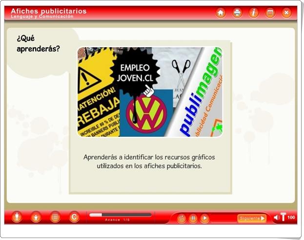 AFICHES PUBLICITARIOS (Aplicación Interactiva de Lengua Española de Primaria)