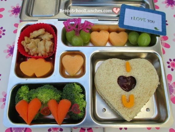 valentines lunch, I love You, bento school lunches