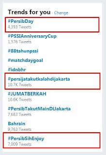 Tagar #PersibDay Tetap Trending, Meski Persija vs Persib Ditunda