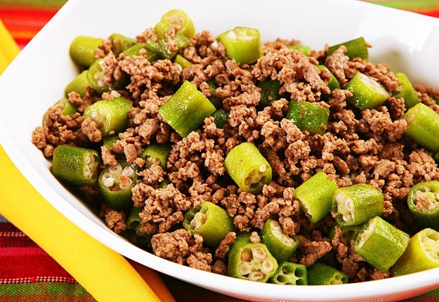 Receita: Carne Moída com Quiabo 🥩